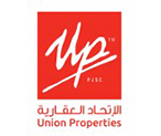 Union Properties red logo in white background